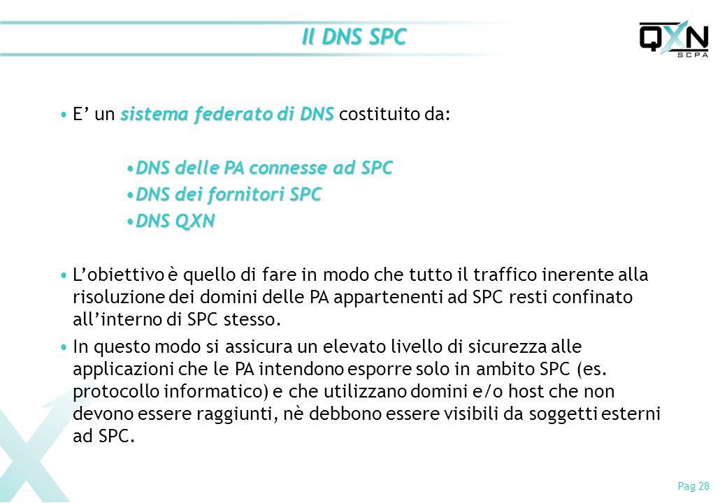 Il DNS SPC E' un sistema federato di DNS costituito da: