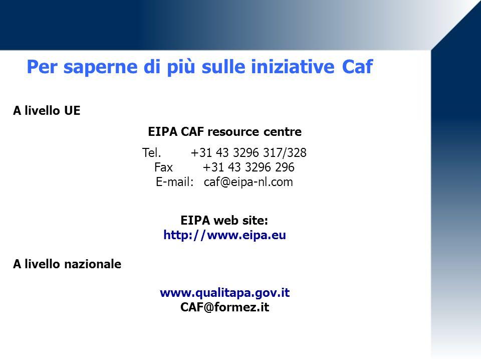 Per saperne di più sulle iniziative Caf