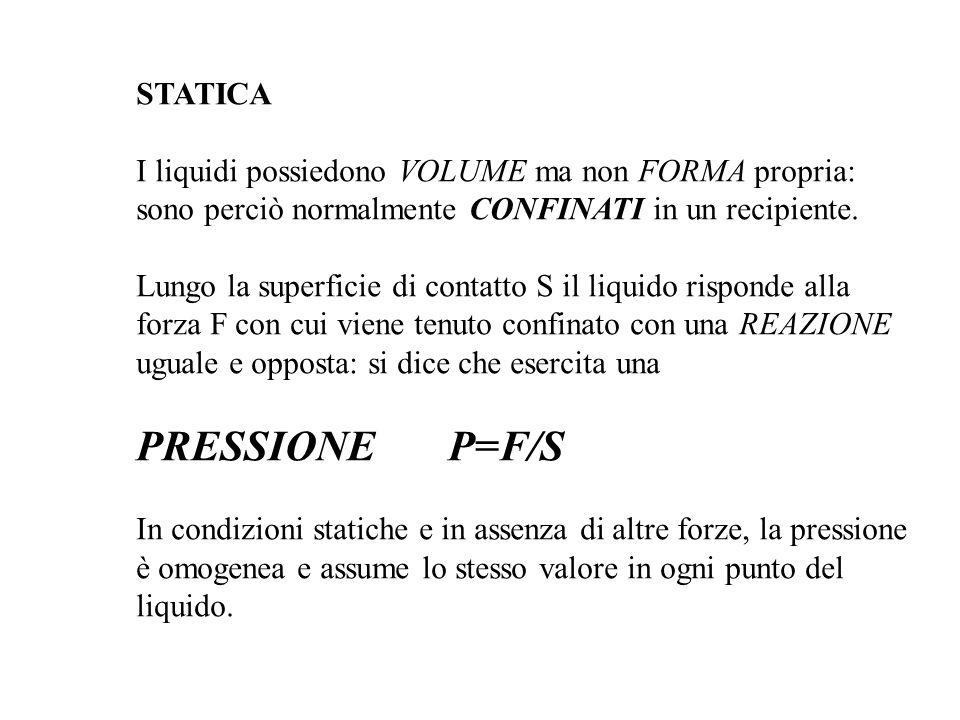PRESSIONE P=F/S STATICA