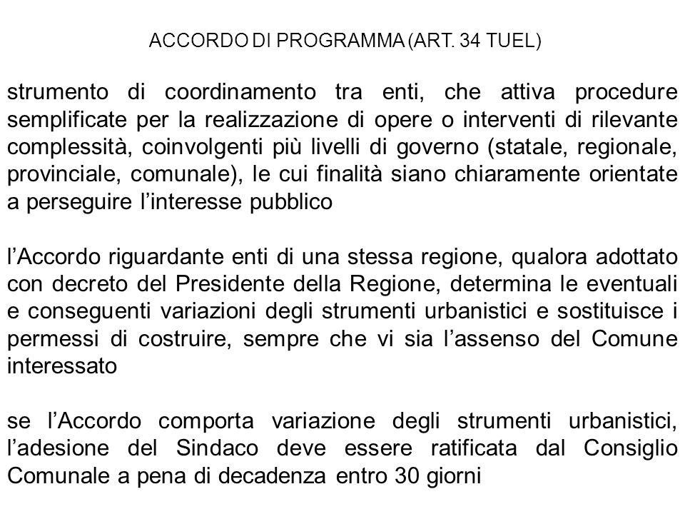 ACCORDO DI PROGRAMMA (ART. 34 TUEL)