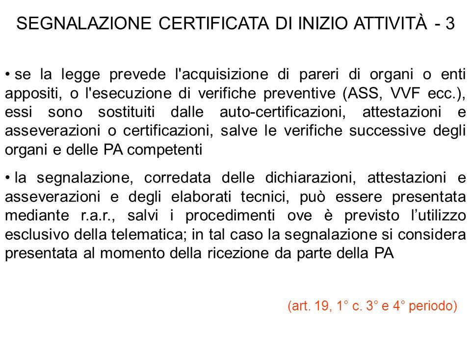 SEGNALAZIONE CERTIFICATA DI INIZIO ATTIVITÀ - 3