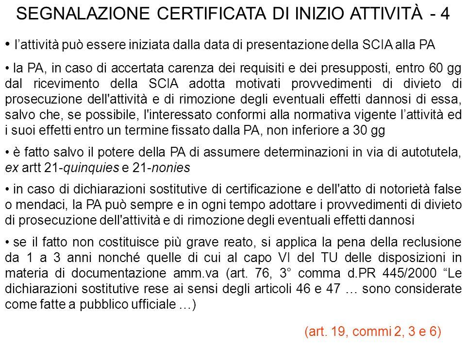 SEGNALAZIONE CERTIFICATA DI INIZIO ATTIVITÀ - 4