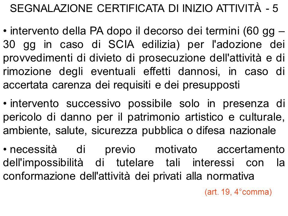 SEGNALAZIONE CERTIFICATA DI INIZIO ATTIVITÀ - 5