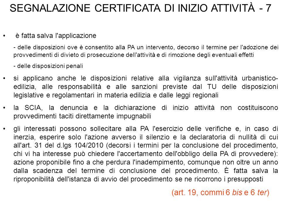 SEGNALAZIONE CERTIFICATA DI INIZIO ATTIVITÀ - 7
