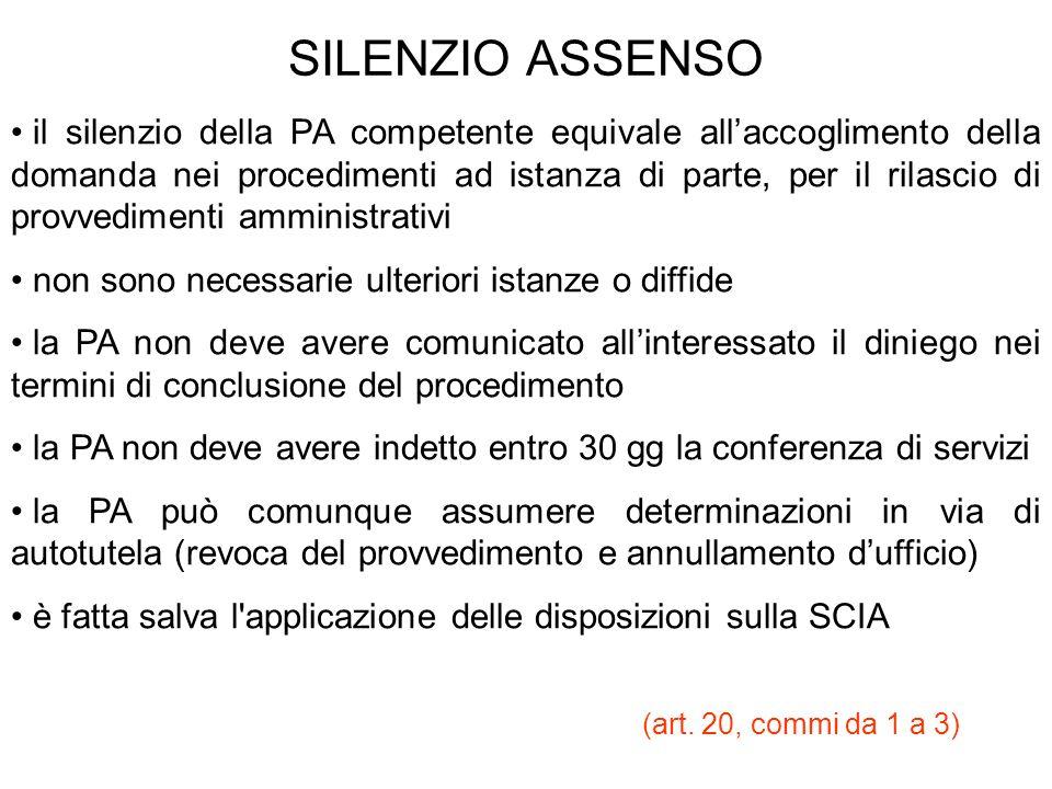SILENZIO ASSENSO