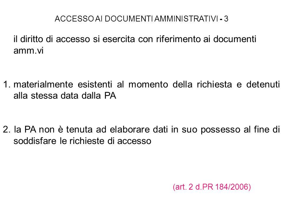 ACCESSO AI DOCUMENTI AMMINISTRATIVI - 3