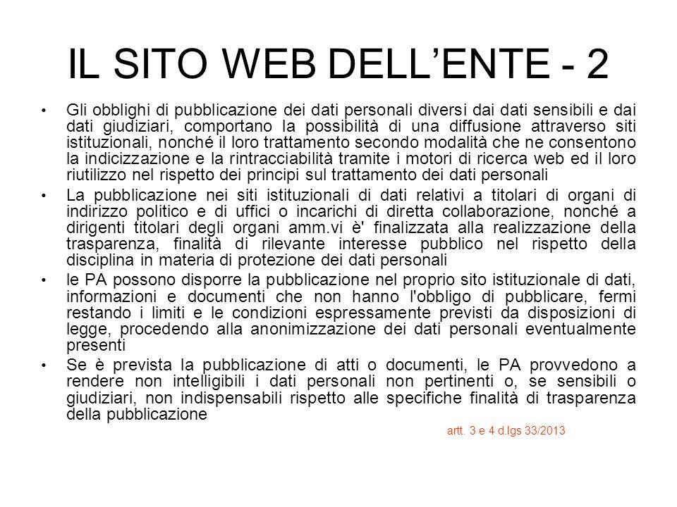 IL SITO WEB DELL'ENTE - 2