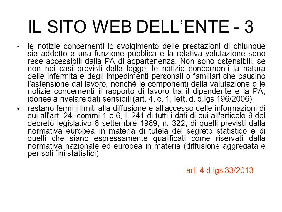 IL SITO WEB DELL'ENTE - 3