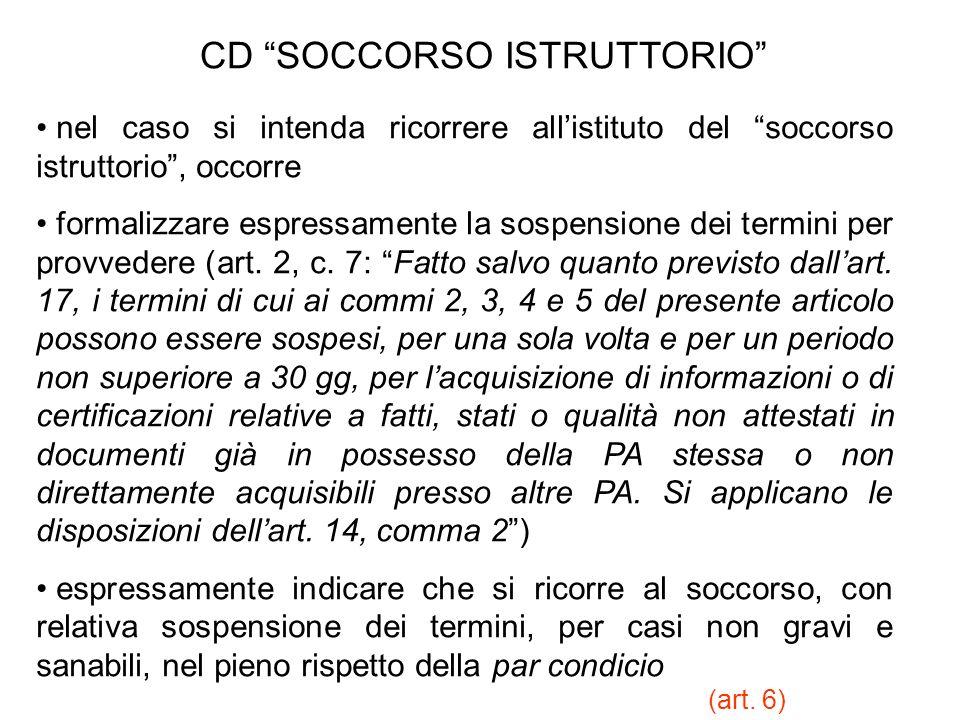 CD SOCCORSO ISTRUTTORIO