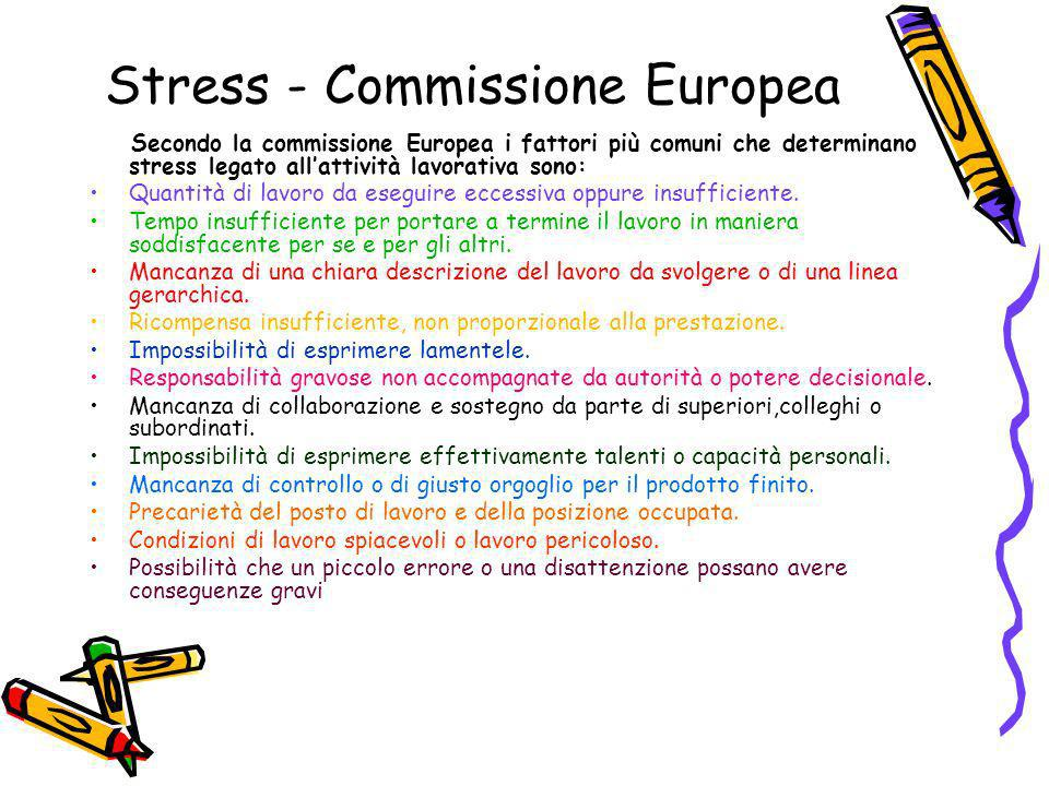 Stress - Commissione Europea