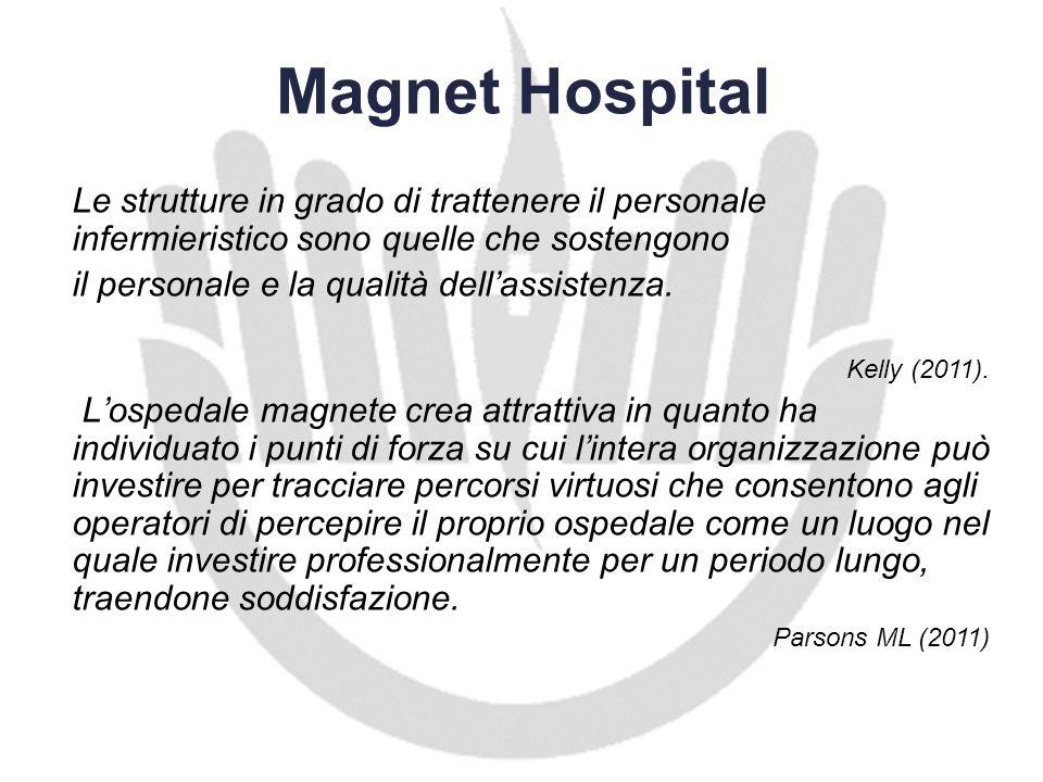 Magnet HospitalLe strutture in grado di trattenere il personale infermieristico sono quelle che sostengono.
