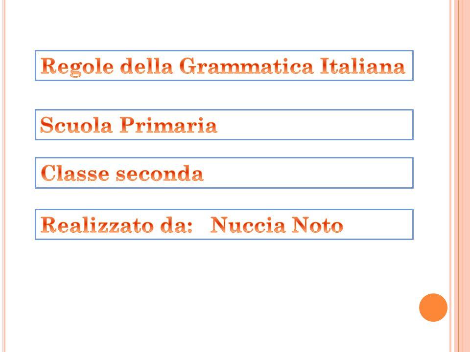 Regole della Grammatica Italiana