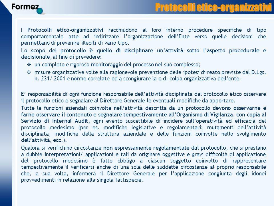 Protocolli etico-organizzativi