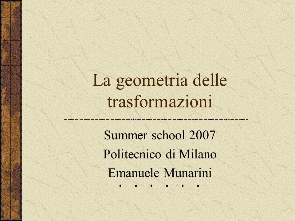 La geometria delle trasformazioni