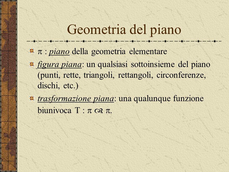 Geometria del piano p : piano della geometria elementare