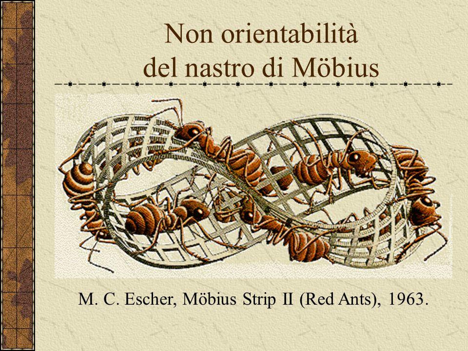 Non orientabilità del nastro di Möbius