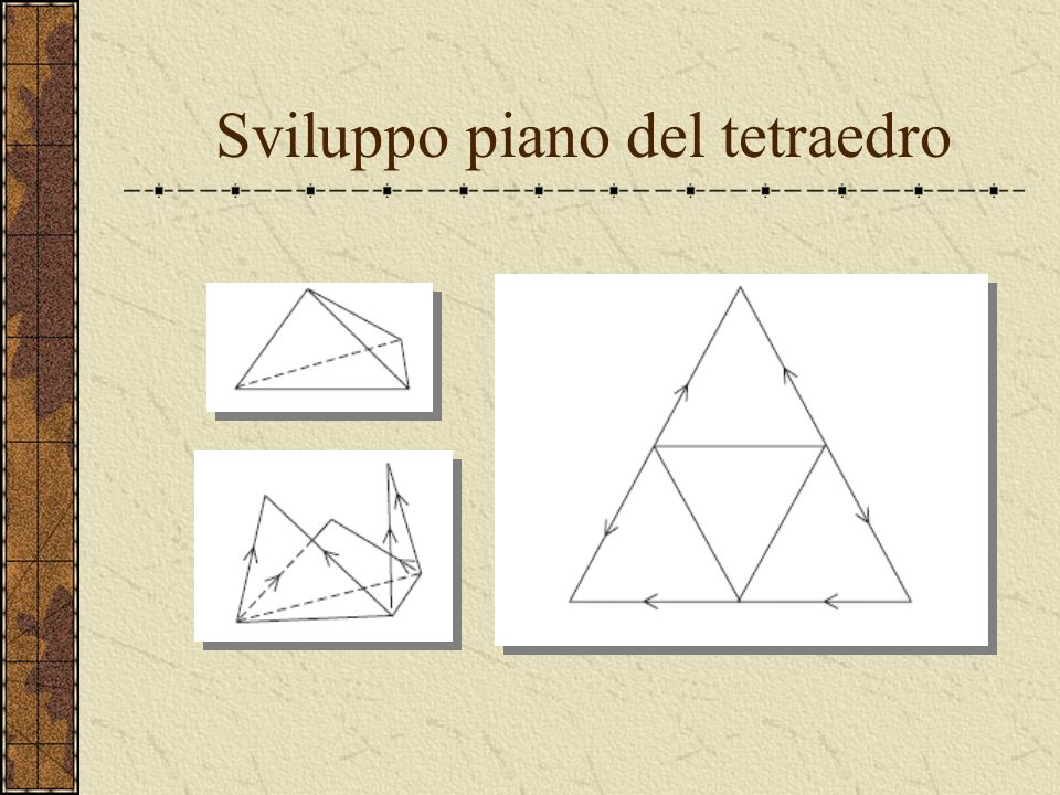 Sviluppo piano del tetraedro