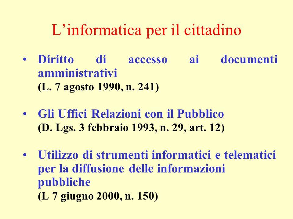 L'informatica per il cittadino