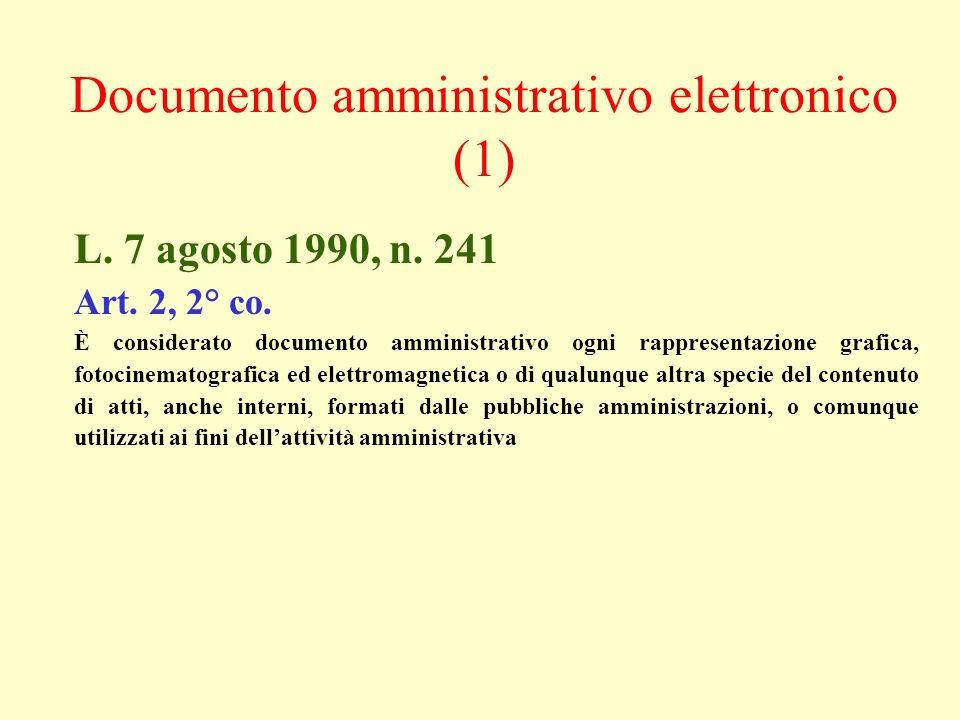 Documento amministrativo elettronico (1)