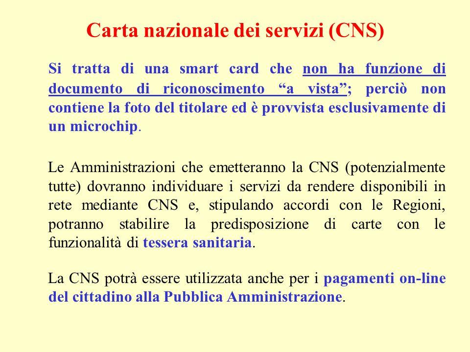 Carta nazionale dei servizi (CNS)
