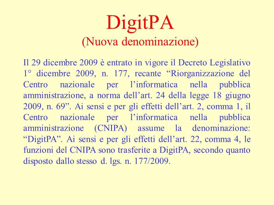 DigitPA (Nuova denominazione)