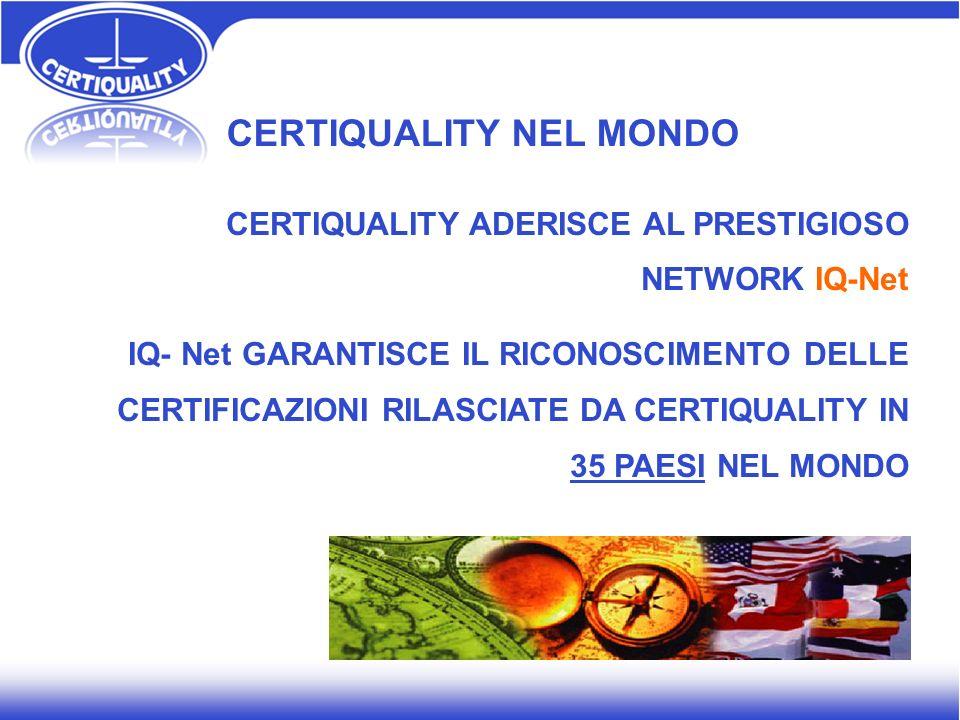 CERTIQUALITY NEL MONDO