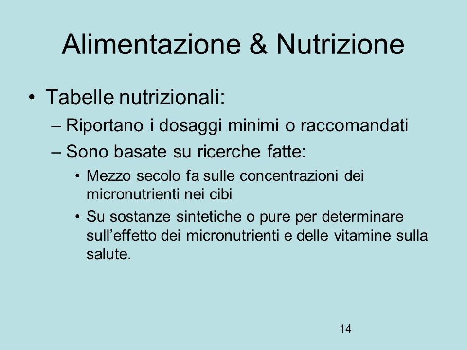 Alimentazione & Nutrizione