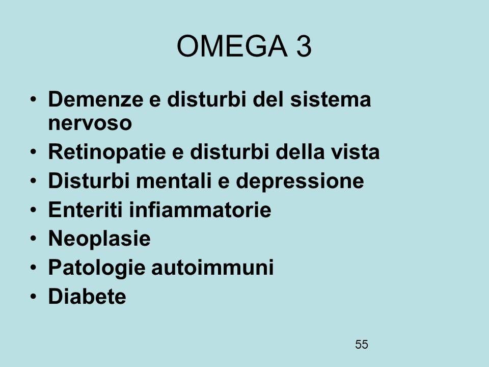 OMEGA 3 Demenze e disturbi del sistema nervoso