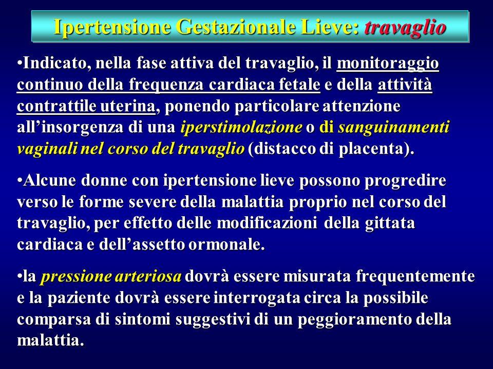 Ipertensione Gestazionale Lieve: travaglio