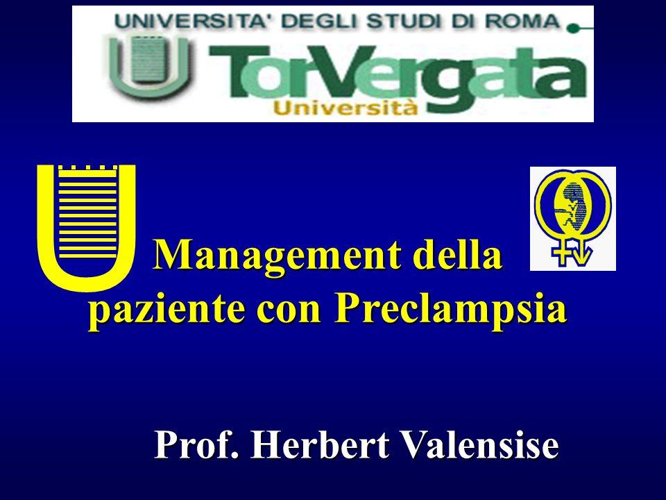 paziente con Preclampsia Prof. Herbert Valensise