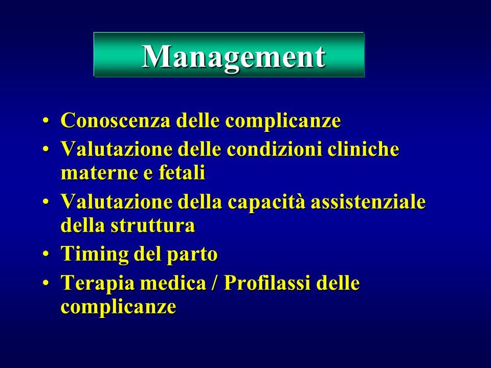 Management Conoscenza delle complicanze