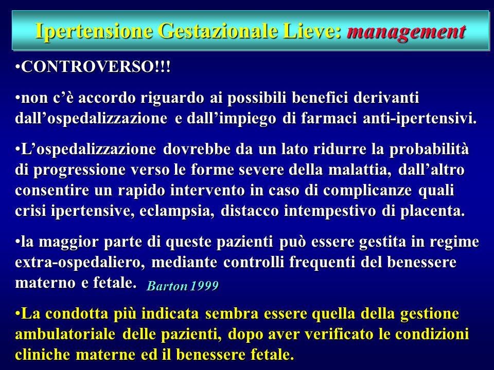 Ipertensione Gestazionale Lieve: management