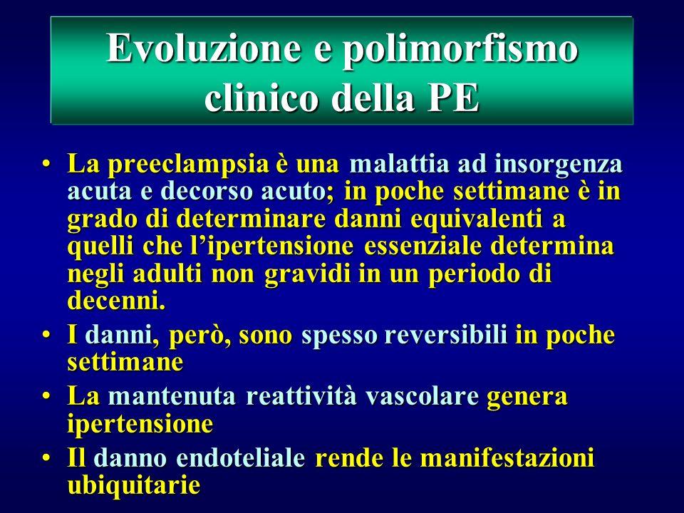 Evoluzione e polimorfismo clinico della PE