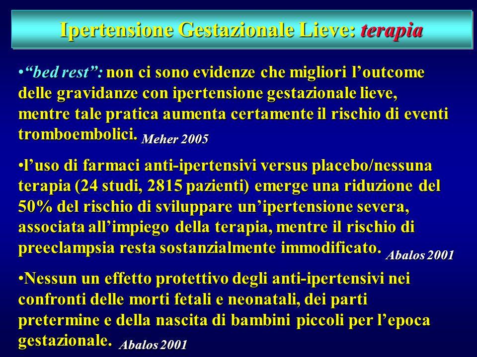 Ipertensione Gestazionale Lieve: terapia