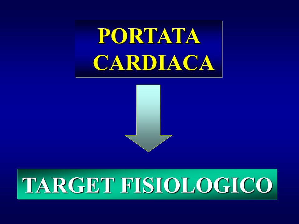 PORTATA CARDIACA TARGET FISIOLOGICO
