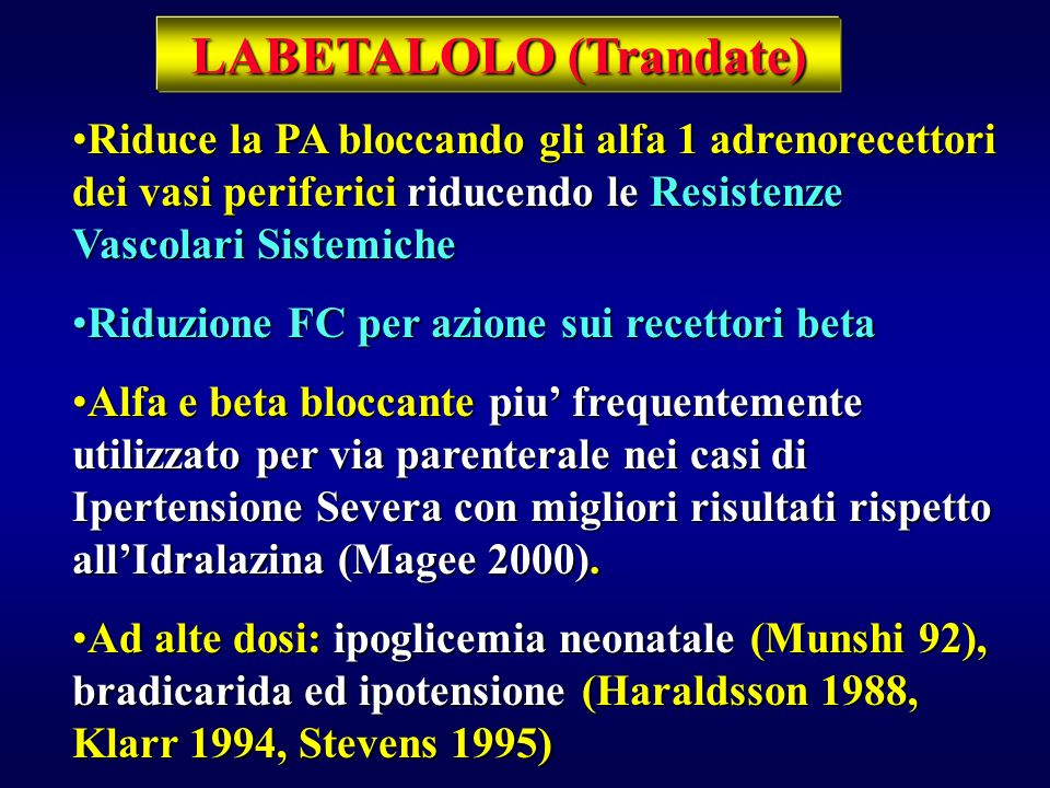 LABETALOLO (Trandate)