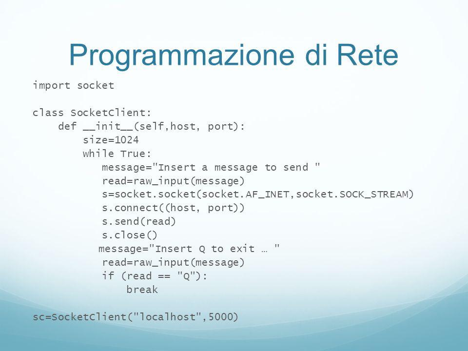Programmazione di Rete