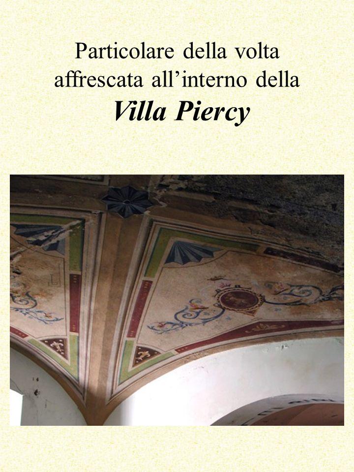Particolare della volta affrescata all'interno della Villa Piercy