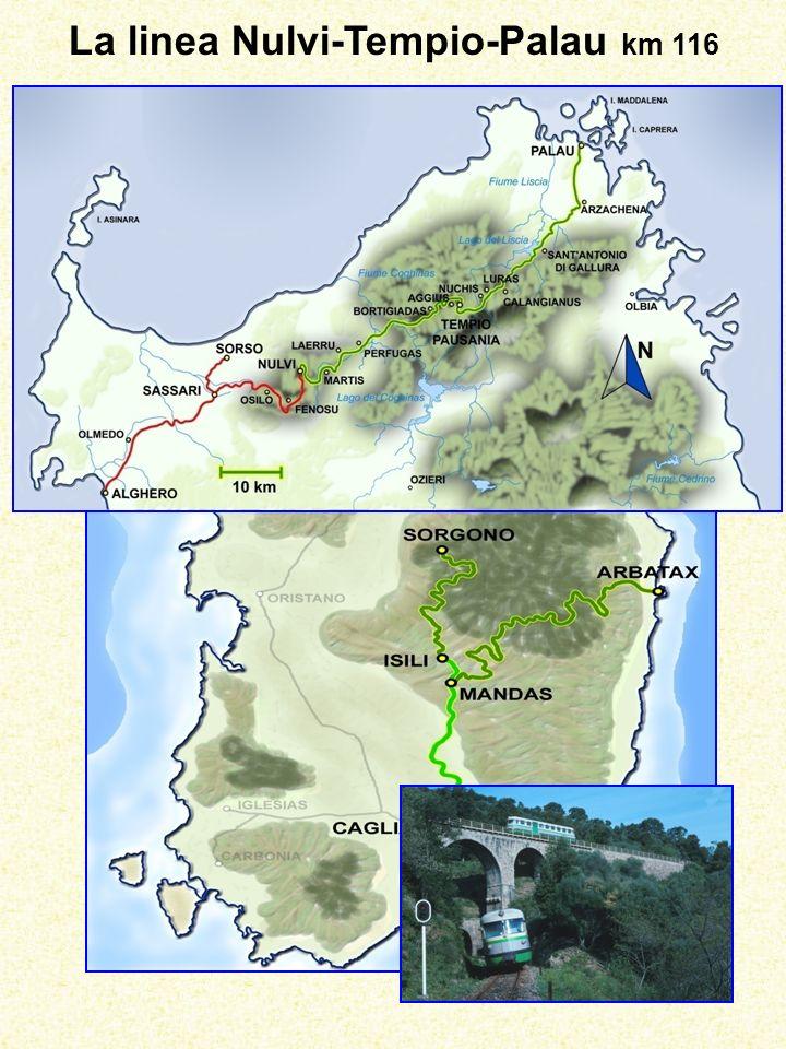 La linea Nulvi-Tempio-Palau km 116