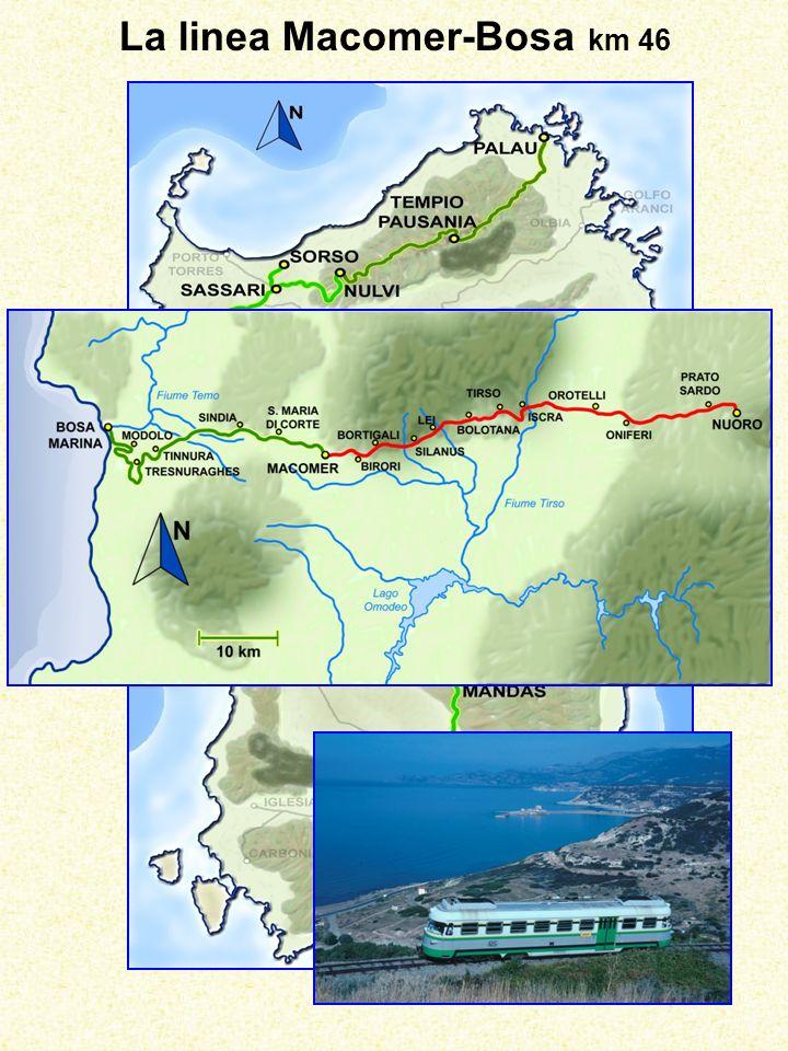 La linea Macomer-Bosa km 46
