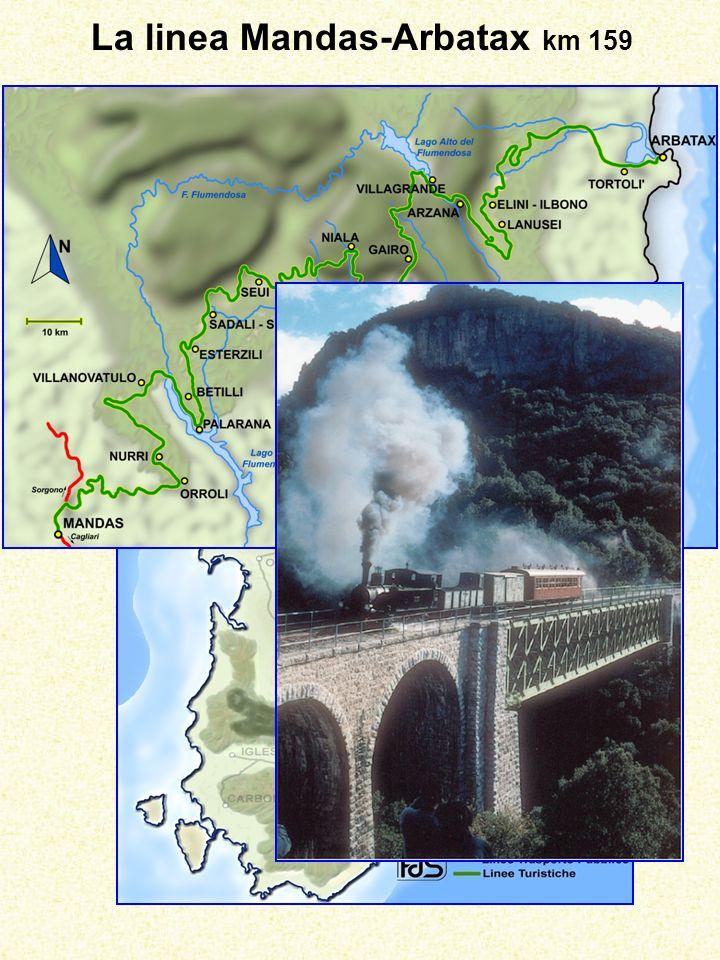 La linea Mandas-Arbatax km 159