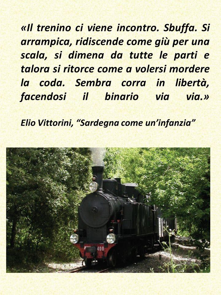 «Il trenino ci viene incontro. Sbuffa