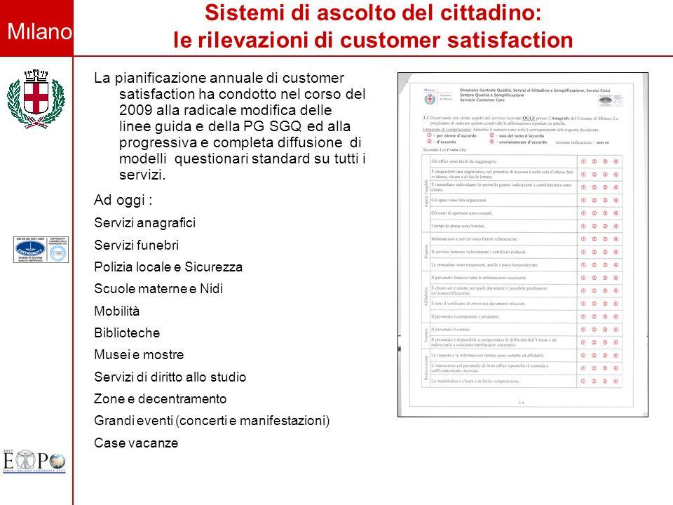 Sistemi di ascolto del cittadino: le rilevazioni di customer satisfaction