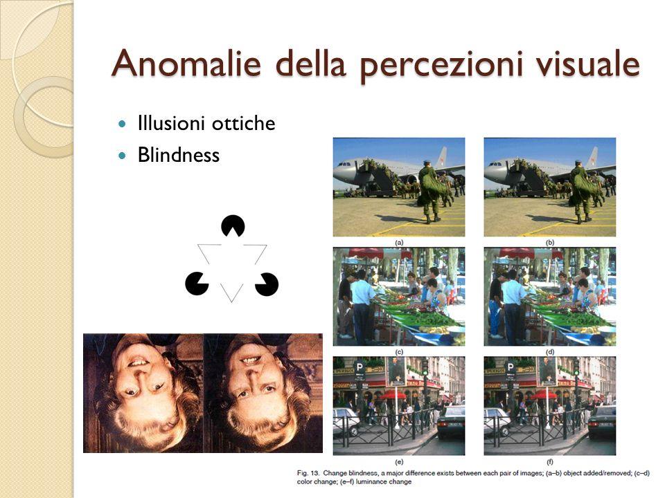 Anomalie della percezioni visuale