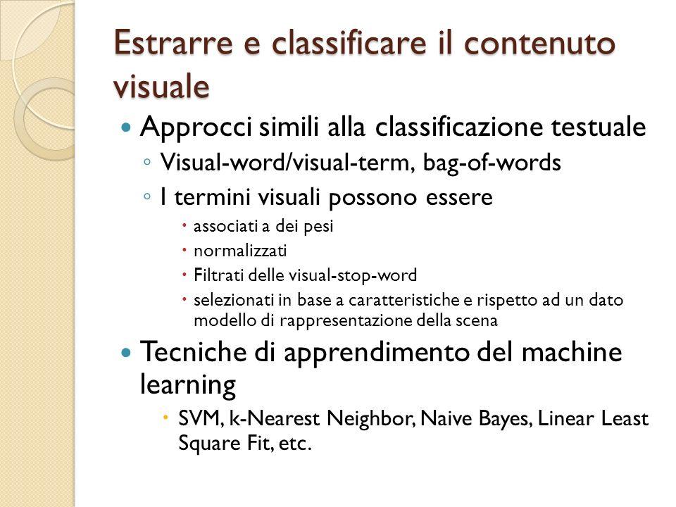 Estrarre e classificare il contenuto visuale