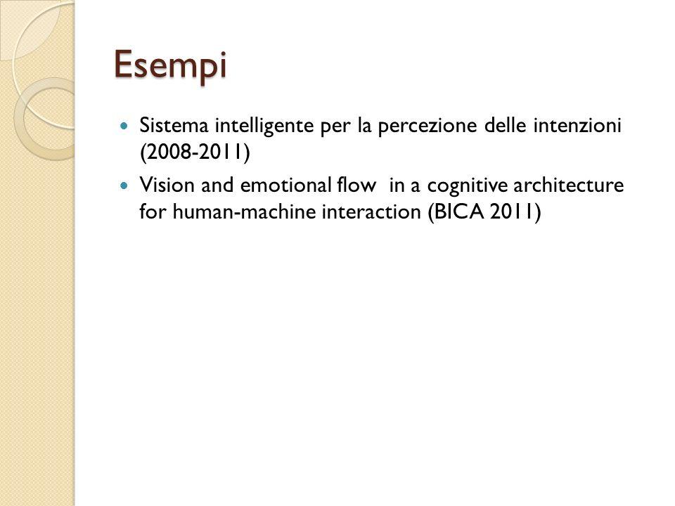 Esempi Sistema intelligente per la percezione delle intenzioni (2008-2011)