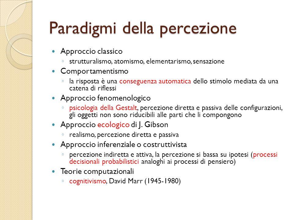 Paradigmi della percezione