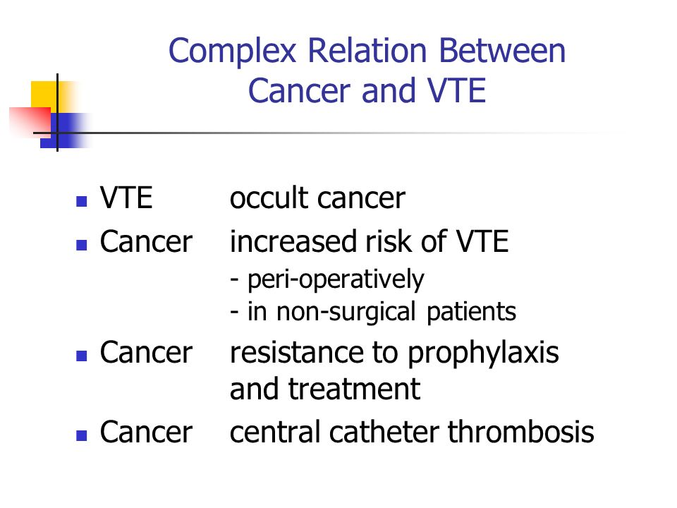 Complex Relation Between Cancer and VTE