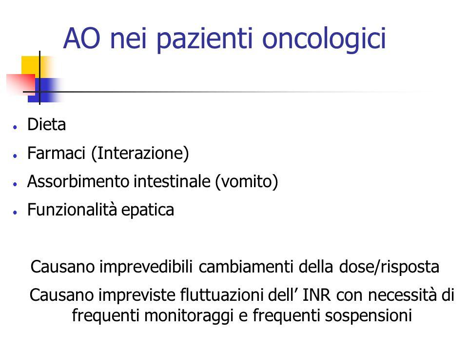 AO nei pazienti oncologici