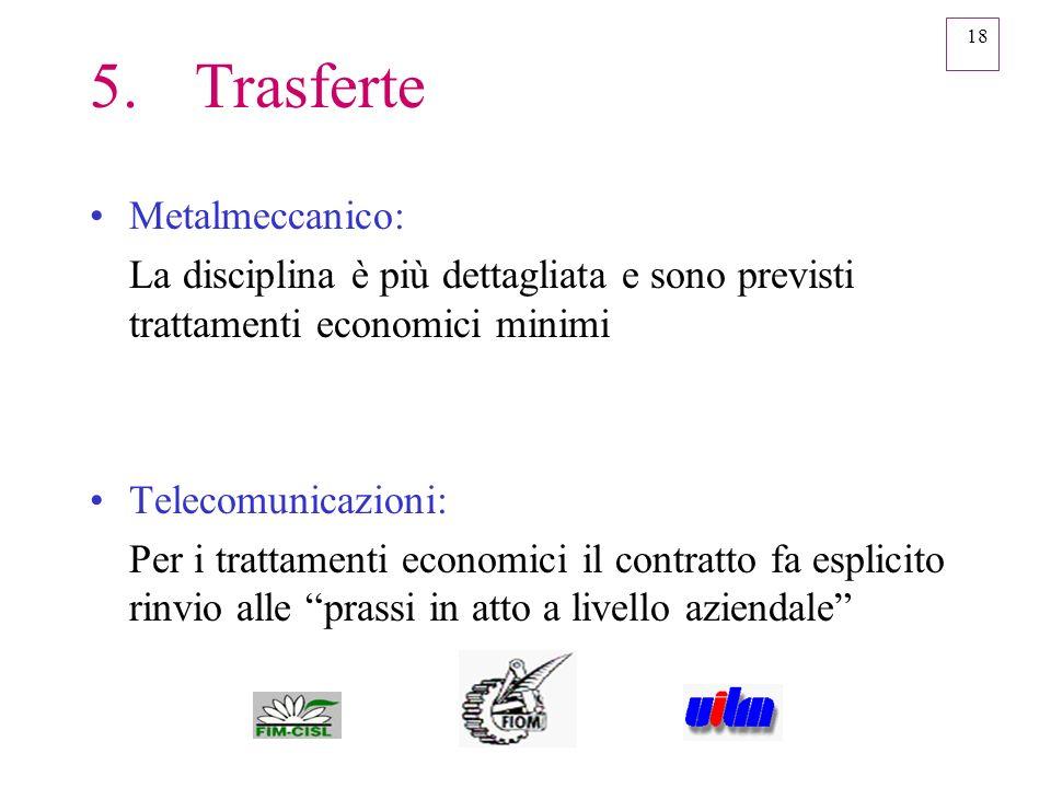 5. Trasferte Metalmeccanico:
